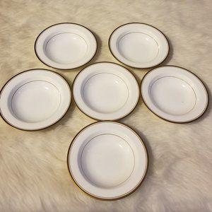 6 Noritake Bone China Gold Trim Fruit/Dessert Bowl